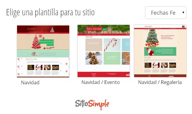 Plantillas de sitios web para navidad