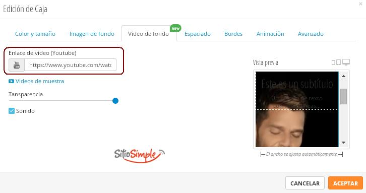 elige videos de fondo desde youtube sitio simple