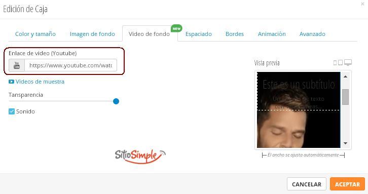 elige videos de fondo desde youtube sitio simple