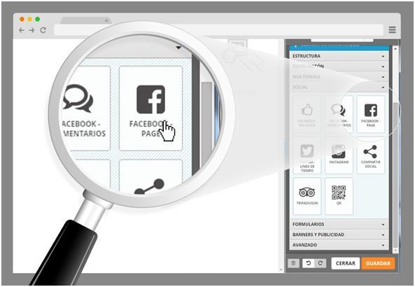 insertar facebook plugin page en sitio simple