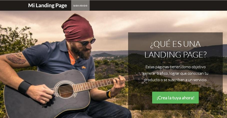 landing page template responsive html 5