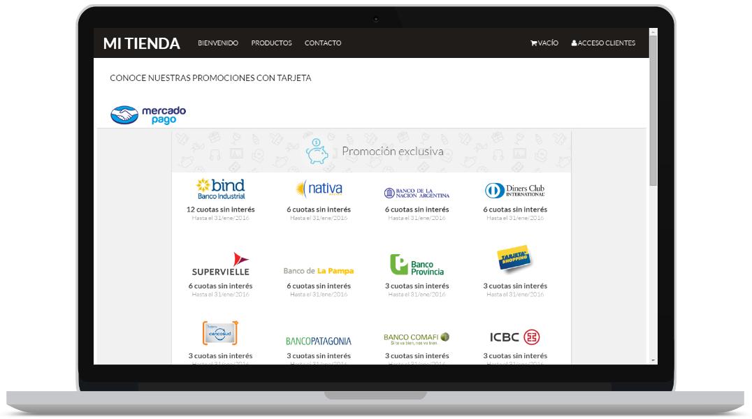Mercadopago en SitioSimple