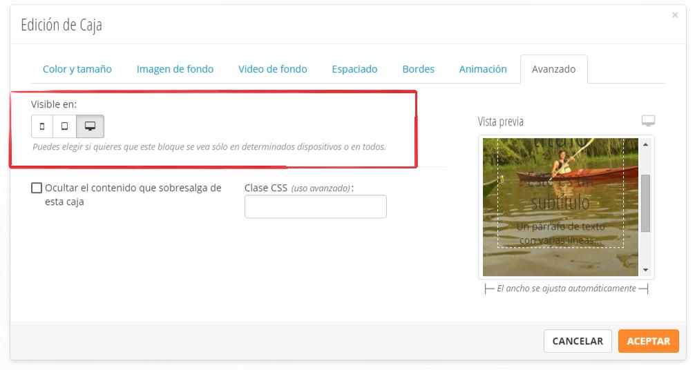 ocultar elementos en html responsivo