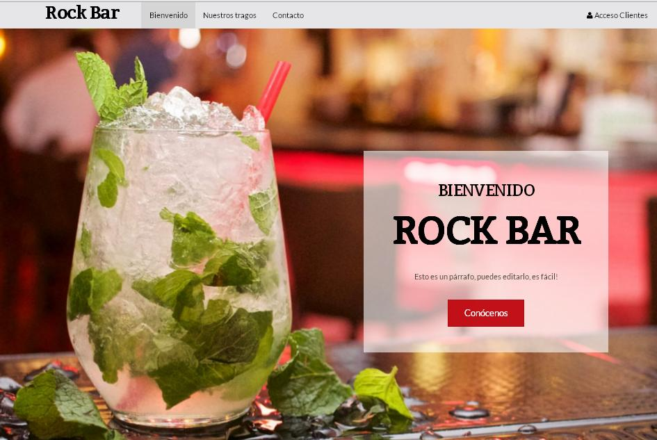 plantilla sitio web rock bar