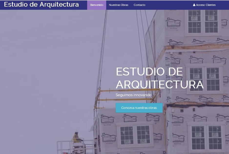 plantilla web para estudio de arquitectura