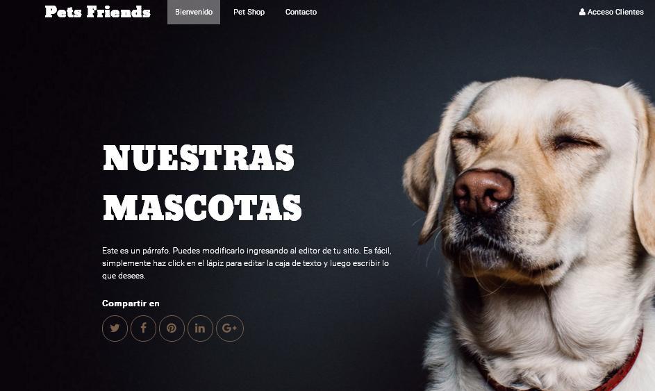 plantilla web para veterinarias y mascotas