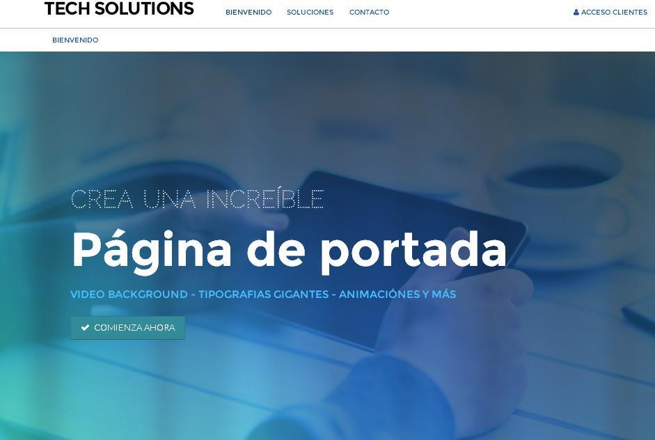 plantillas web para sitios de tecnologia