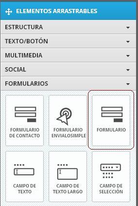 agregar formulario personalizado