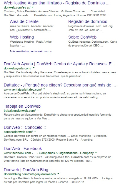 ocupar pagina principal de buscadores con sitios propios