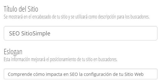 configurar title de pagina principal en sitio web