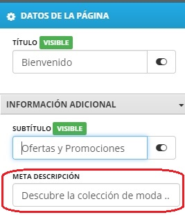 meta descripcion seo
