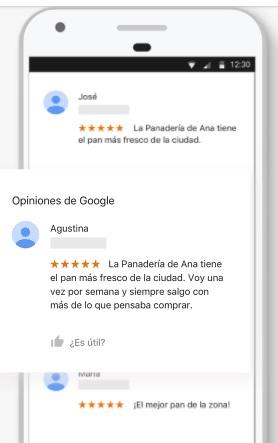 opiniones de panaderia de ana en google mi negocio