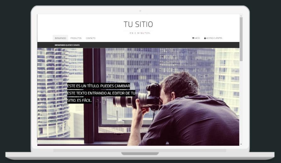 plantilla pagina web de fotografia