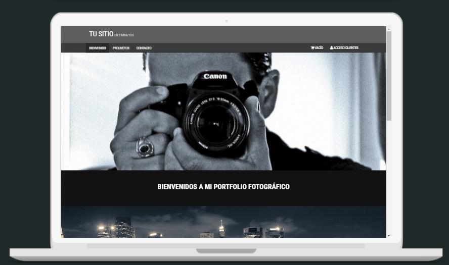 plantilla sitio web fotografia