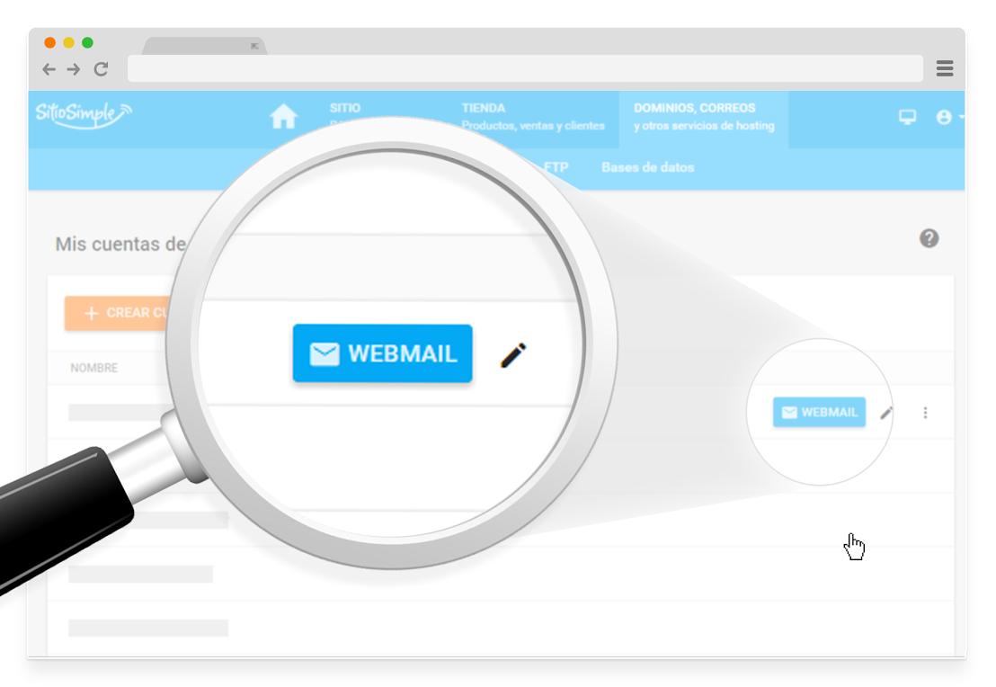 webmail en sitiosimple
