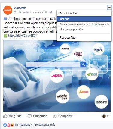 como compartir una publicacion de facebook en mi web