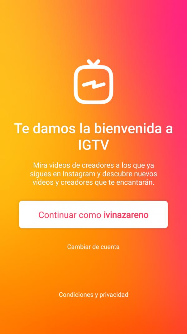 Instagram tv crear cuenta