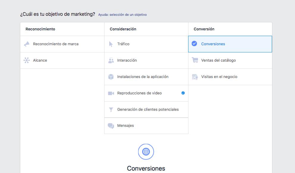 conversiones de facebook e instagram en carrito de compras