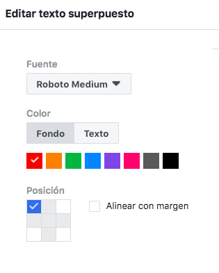 editar textos superpuestos facebook