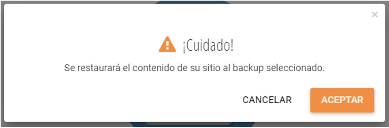 restaurar backup