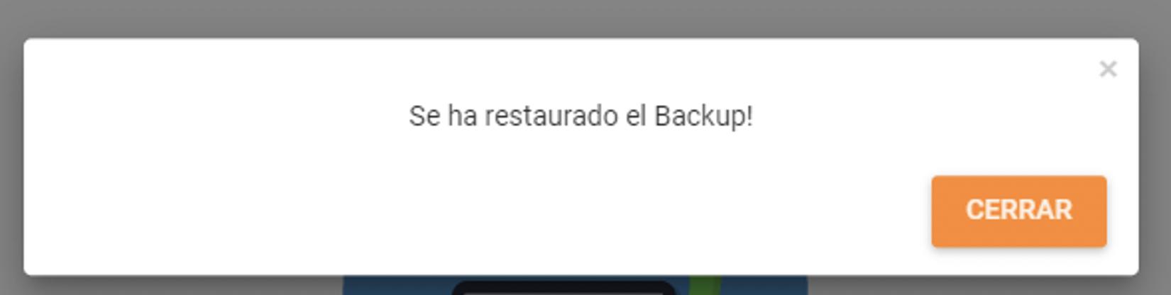backup restaurado