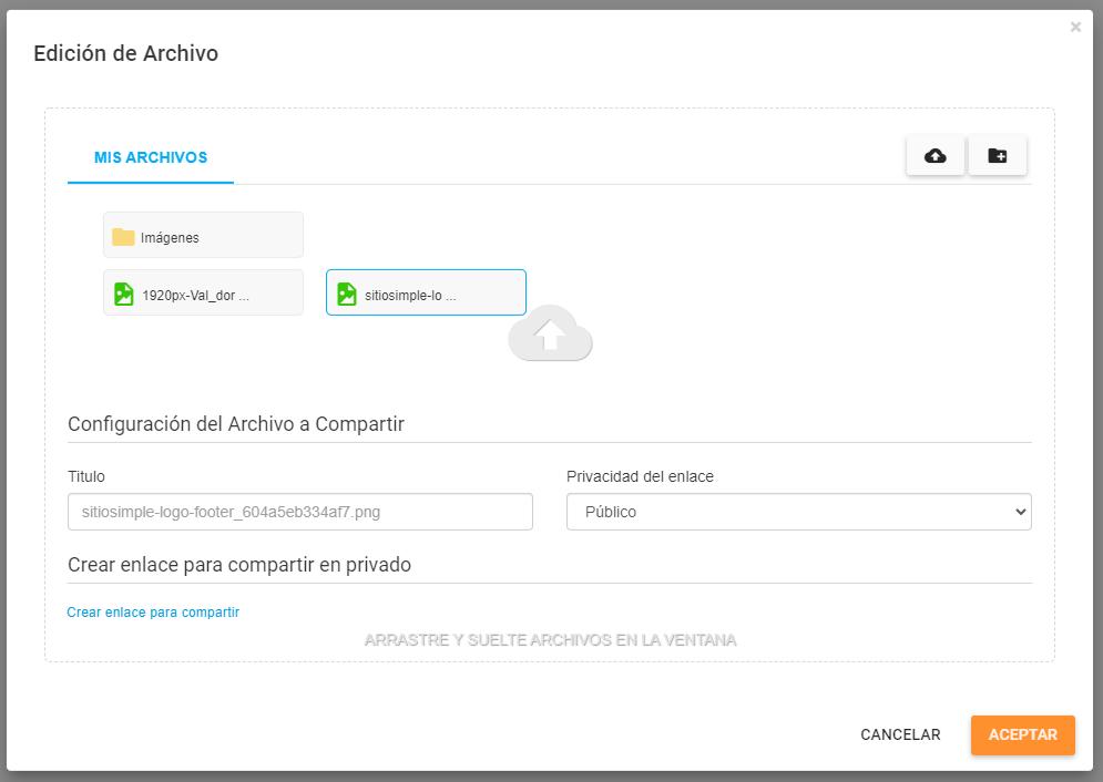 file upload privacidad