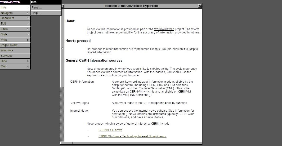 primera página web del mundo