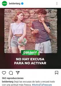 Ejemplo de texto creativo motivador de Beldent