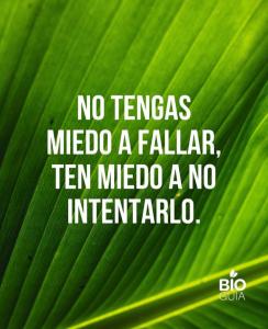 frase creativa que utiliza Bioguia en su Instagram