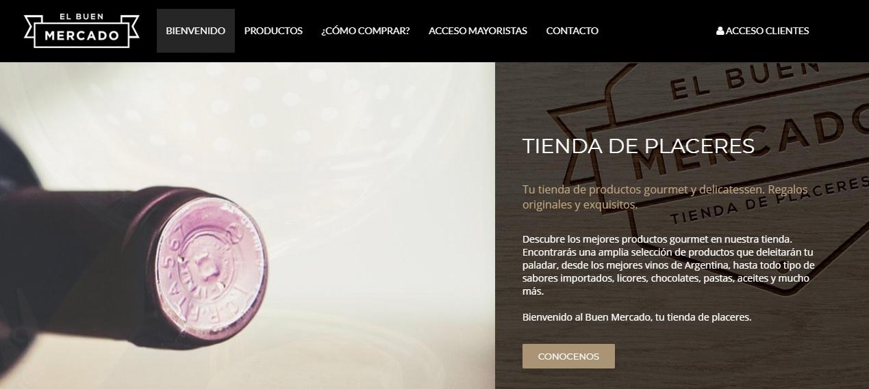 Acceso a clientes sección web caso El Buen Mercado