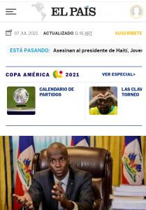 Menú versión mobile de El País.