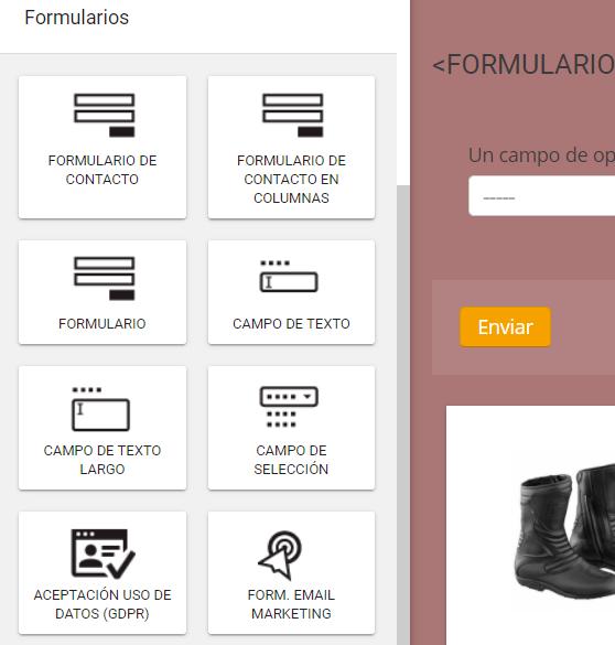campo del formulario en SitioSImple